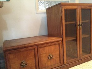 Photo of free Entertainment cabinet (Springfield (Delco))